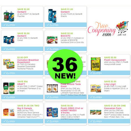 Did You SEE the Thirty-Six (36!) NEW Coupons? PRINT Now to Save on L'Oreal, Gerber, Folgers & More!