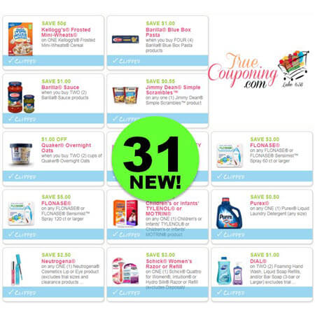 WAHOO! There's Thirty-One (31!) NEW Coupons Out This Weekend For Schick, Neutrogena, Dial & More!