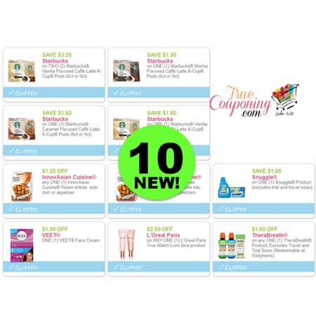 YAHOO! There's TEN (10!) NEW Coupons Today for Starbucks, Snuggle, L'Oreal & More! PRINT Now!