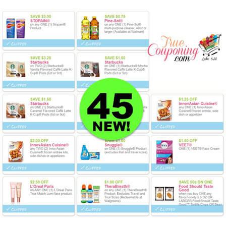 WAHOO! PRINT The Forty-Five Coupons That Came Out This Week! HURRY!