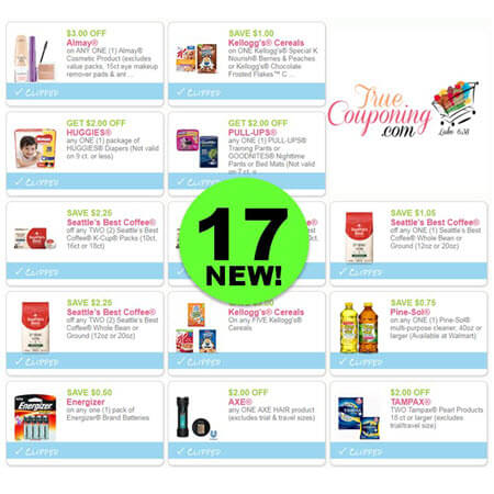 YIPPEE! There's Seventeen (17!) NEW Coupons This Week! Print the NEW Kellogg's & Almay Coupon!