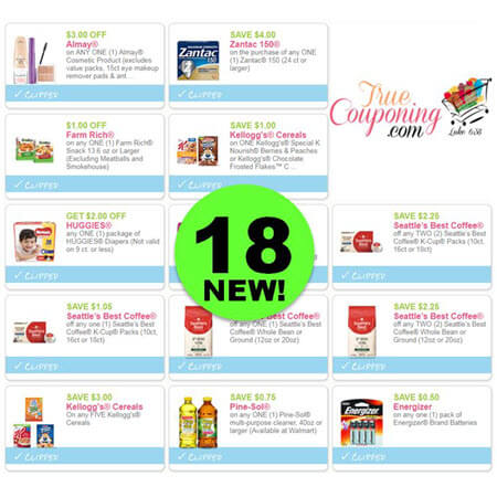 WOW! There's Eighteen (18!) NEW Coupons This Week! Print the NEW Almay, Zantac & Farm Rich Coupons!