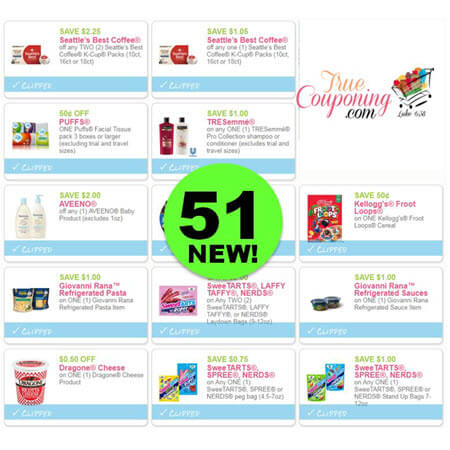 PRINT The Fifty-One (51!) Coupons NEW This Week! Save on Tresemme, Seattle's Best Coffee & MORE!