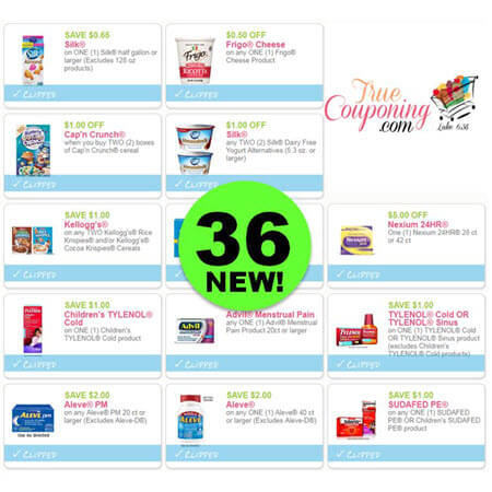 There Are Thirty-Six (36!) NEW Coupons That Came Out This Weekend! PRINT NOW!