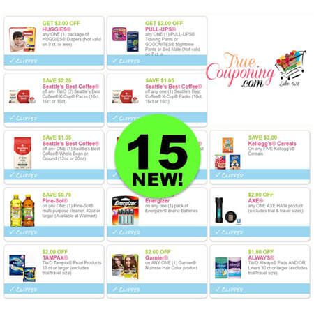 WAHOO! There's Fifteen (15!) NEW Coupons This Week! Print the NEW Huggies Coupons!