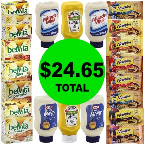 For Only $24.65, Get (22) Belvita Biscuits, Newtons Cookies, Kraft Mayo & Heinz Mustard (After Rebates) at Publix! (Ends 2/27 or 2/28)