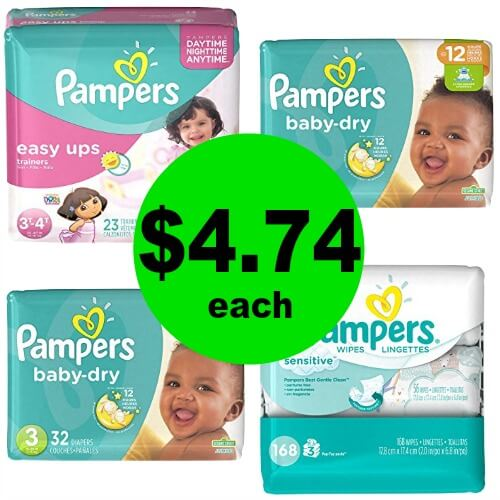 For Just $18.96, Get (3) Pampers Jumbo Diapers & (1) Pampers Wipes Refill at CVS! (Ends 2/10)