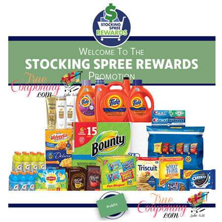 Publix Stocking Spree Program is BACK for 2018! Get a FREE $10 Publix Gift Card wyb $50 of Select Products! (Valid 1/1/18 – 12/31/18)