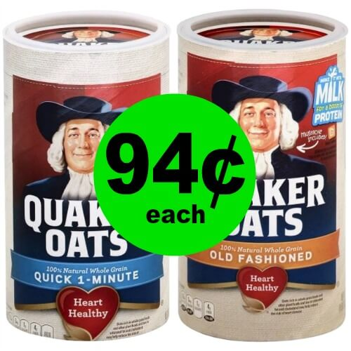 Have a Healthy Breakfast with Quaker Oats Oatmeal for 94¢ each at Publix! (Ends 2/6 or 2/7)