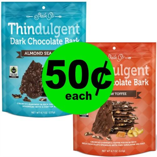 Indulge in 50¢ Sheila G's Thindulgent Bark at Publix! (Ends 2/6 or 2/7)