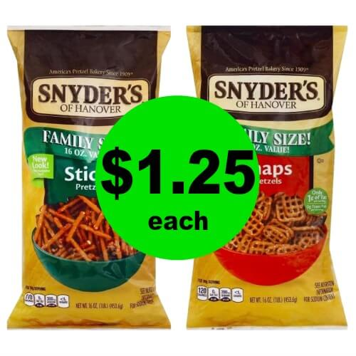 Get Your Snack On with $1.25 Snyder's of Hanover Pretzels, Nibblets or Tortilla Chips at Publix! (2/21-2/27 or 2/22-2/28)