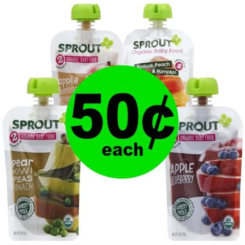 Have a Happy Baby with 50¢ Sprout Organic Baby Food at Publix! (Ends 2/27 or 2/28)