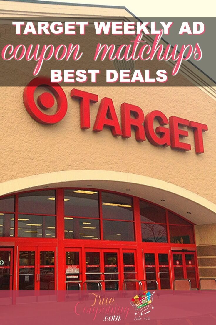 You've GOTTA check out the CRAZY Good Deals inside the Target Ad for this week! Start your shopping list HERE! #target #couponing #targetdeals #couponingcommunity #truecouponing
