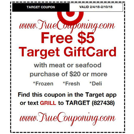 Heads Up! This Sunday (2/4/18) We're Getting a FREE $5 Gift Card wyb $20 Meat/Seafood AND a FREE $20 Gift Card wyb $100 of Baby Dept. Target Coupon!