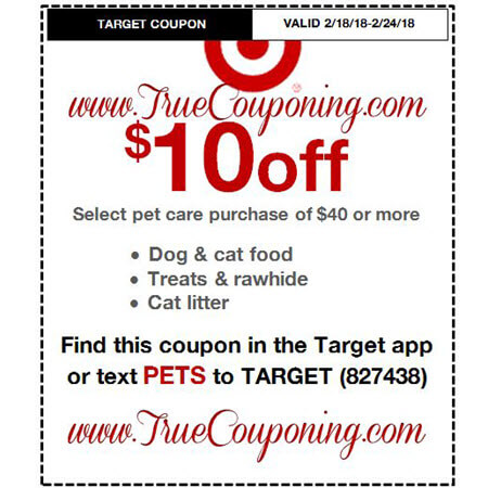 Heads Up! This Sunday (2/18/18) We're Getting a $10/$40 Pet Care Target Coupon!