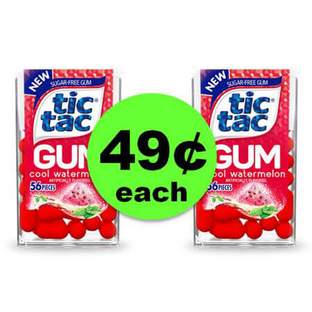 Get Your Chew On with 49¢ Tic Tac Gum at Walgreens (At Walmart Too)! (Ends 3/3)