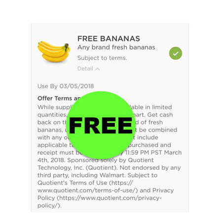 Get Your FREE Fresh Bananas at Walmart RIGHT NOW! (Ends 3/4)