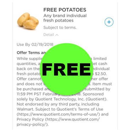 FREE Fresh Potatoes at Walmart! (Ends 2/18)