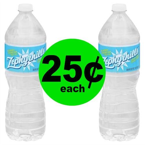 Stock Up on Zephyrhills or Deer Park Spring Water 1 Liter Bottles for 25¢ Each at Publix! (2/17 – 2/25)