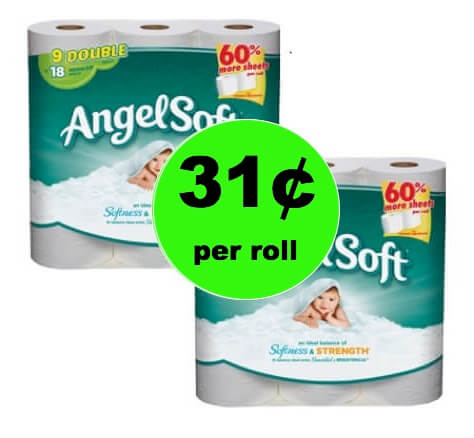 Get Angel Soft Bath Tissue Only 31¢ per Roll at Winn Dixie! (2/17-2/18)