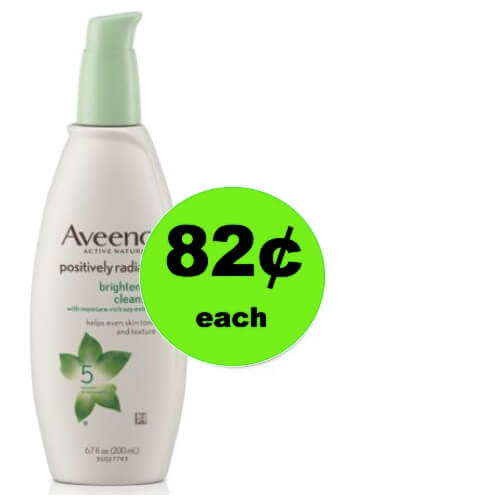 Keep Your Face Fresh with 82¢ Aveeno Positively Radiant Brightening Cleanser at Walmart!