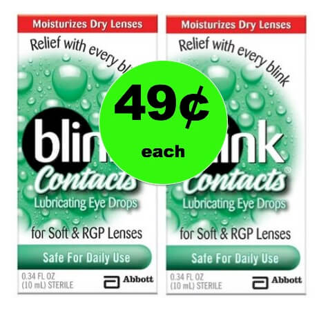 Pick Up 49¢ Blink Contact Drops at Target! (Ends 5/19)