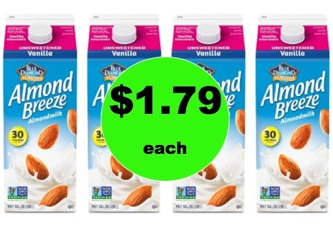 Drink Up with $1.79 Blue Diamond Almond Breeze Almondmilk at Target! (Ends 2/17)