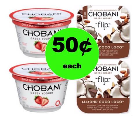 Stop by Winn Dixie for 50¢ Chobani Greek Yogurt! (Ends 2/6)