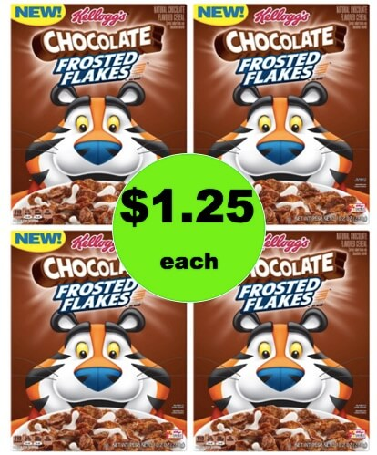 Get a Super Cereal Deal with $1.25 Kellogg's Chocolate Frosted Flakes Cereal at Target! (Ends 3/3)