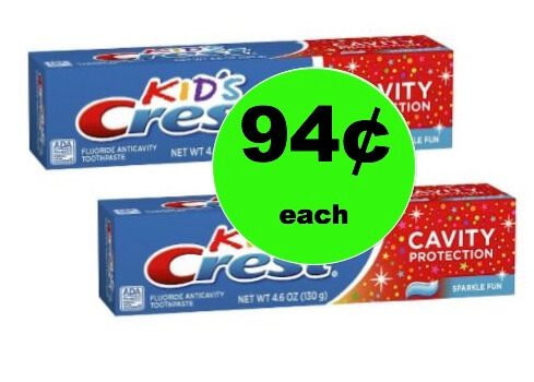 Make 'Em Smile with 94¢ Crest Kid's Sparkle Fun Toothpaste at Walmart! (Ends 2/24)
