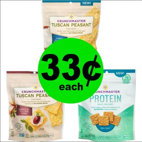 Get Your Crunch on with 33¢ Crunchmaster Tuscan or Protein Crackers at Publix! (Ends 2/20 or 2/21)