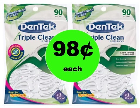 Super Clean Your Teeth with 98¢ Dentek Floss Picks at Walgreens! (Ends 3/3)