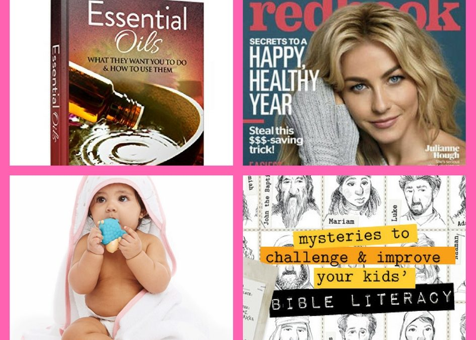 FOUR (4!) FREEbies: Essential Oil eGuide, Annual Subscription to Redbook Magazine, Amazon Baby Box and Bible Detective Kit!
