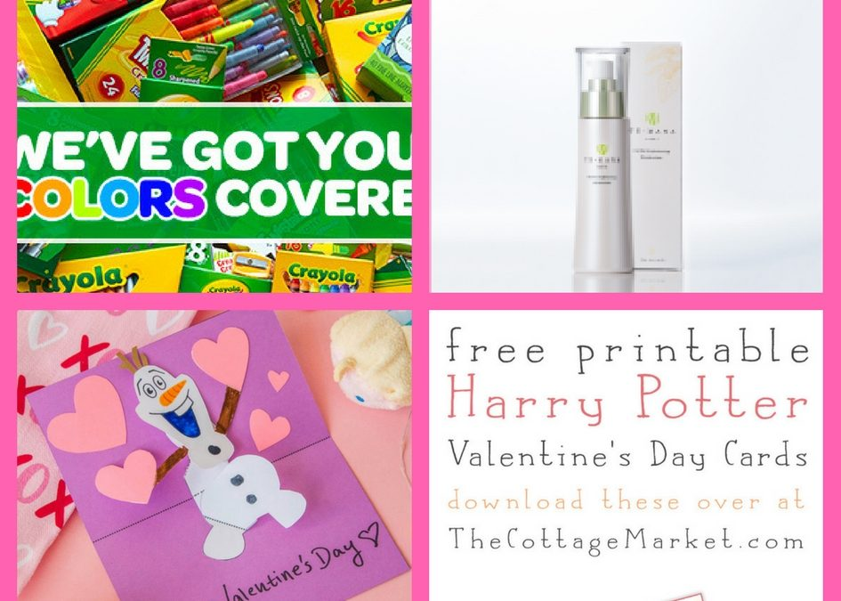 Check Out These FOUR (4!) FREEbies: Crayola Coloring Pages, Temana Beauty Product, Olaf Valentine and Harry Potter Valentines!
