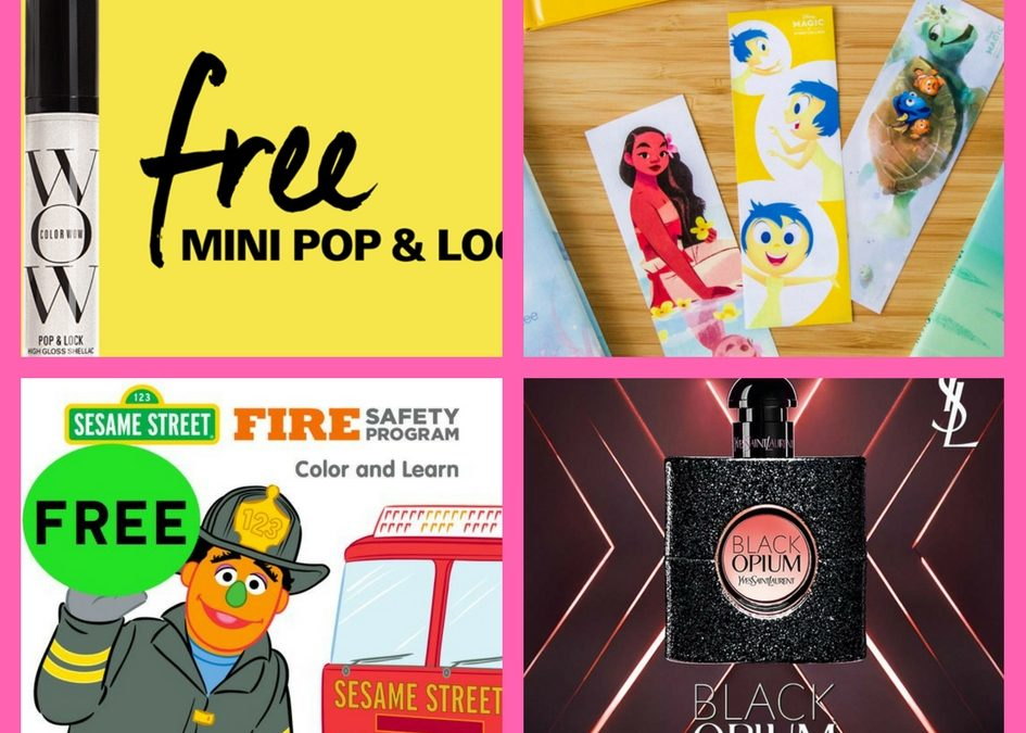 Did You Get These FOUR (4!) FREEbies: Hair Repair Product, Disney Character Bookmarks, Sesame Street Fire Safety Coloring and Activity Booklet and Black Opium Fragrance!