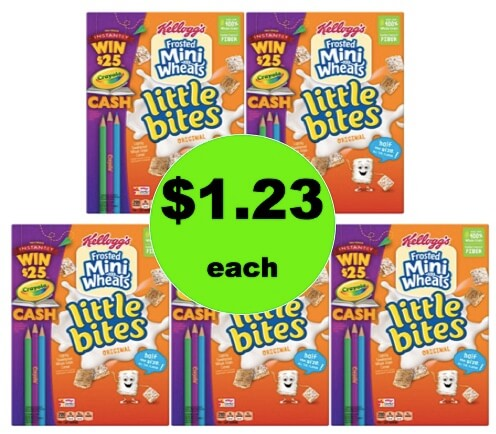 Grab Your Spoon for $1.23 Kellogg's Frosted Mini-Wheats Little Bites Cereal at Walmart!