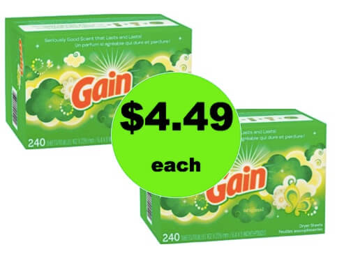 Pick Up $4.49 Gain Dryer Sheets BIG 240 Ct. Boxes (Reg. $9) at Target! (Ends 2/24)