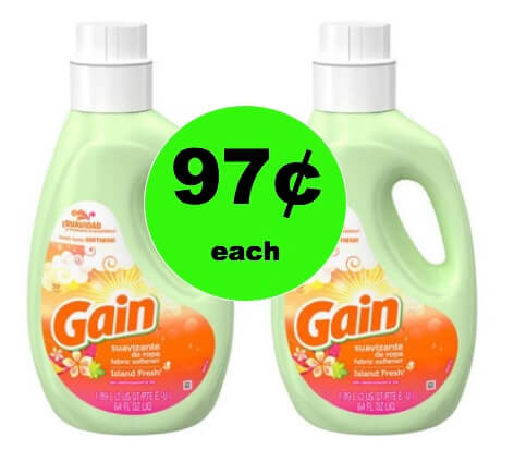 Get Great Smelling Laundry with 97¢ Gain Liquid Softener at Walmart!