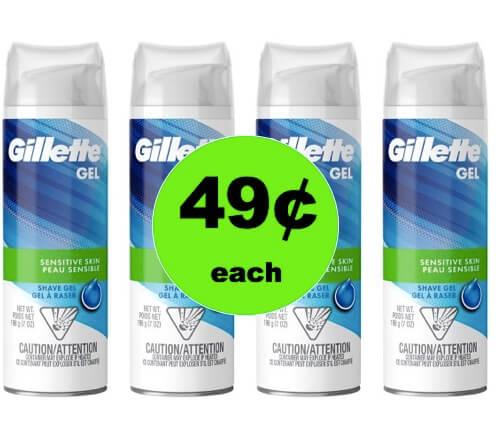 STOCK UP with $.49 Gillette Men's Shave Gel at Target! (Ends 3/3)