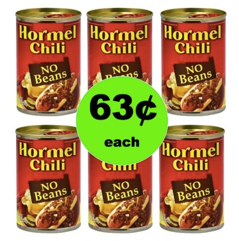 Pick Up Hormel Chili No Beans Only 63¢ at Winn Dixie! (Ends 2/27)