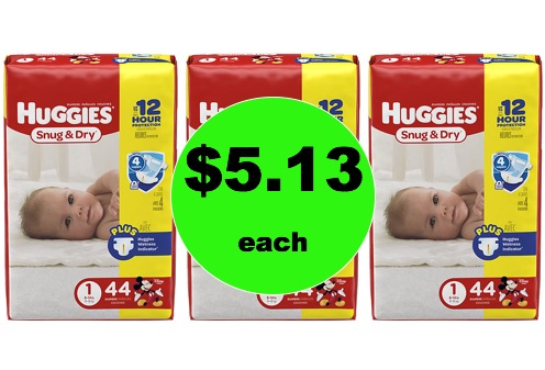 Snag Huggies Jumbo Diapers ONLY $5.13 PLUS Get a FREE $5 Disney Gift Card! (Ends 2/17)