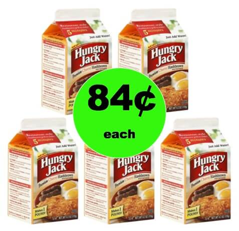 Make Breakfast Yummier with 84¢ Hungry Jack Premium Cheesy Hashbrown Potatoes at Target! (Ends