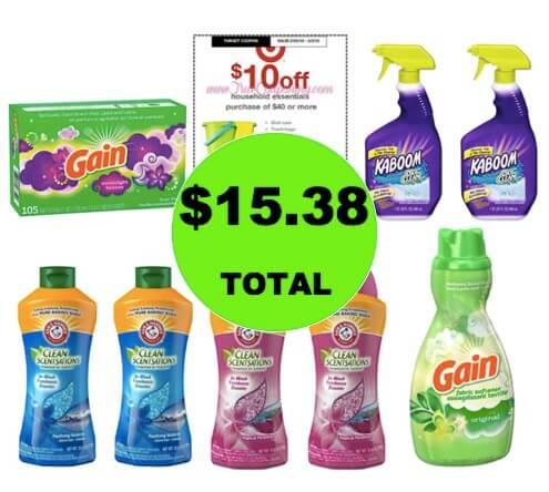 For ONLY $15.38, Get (6) Laundry Products & (2) Shower Cleaners at Target! (Ends 3/3)