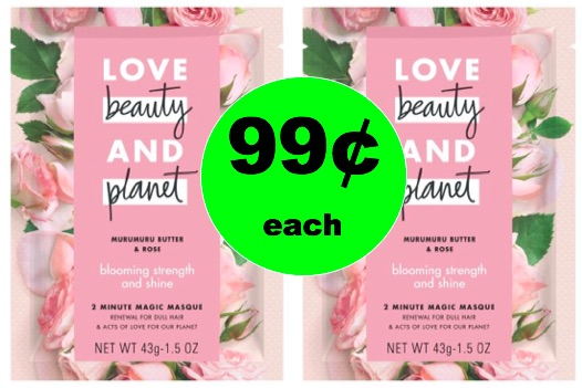 Make Your Hair Shine with 99¢ Love Beauty & Planet Hair Masque!