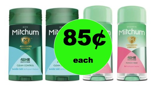 No More Stink with 85¢ Mitchum Deodorant at Walgreens! (2/11 – 2/17)