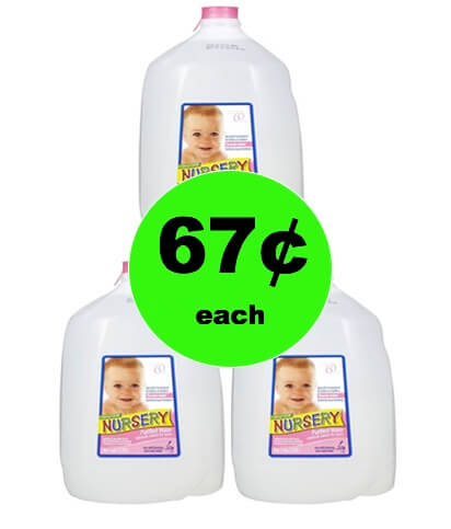 Pick Up THREE (3!) Nursery Water Jugs Only 67¢ Each at Winn Dixie! (Ends 2/13)