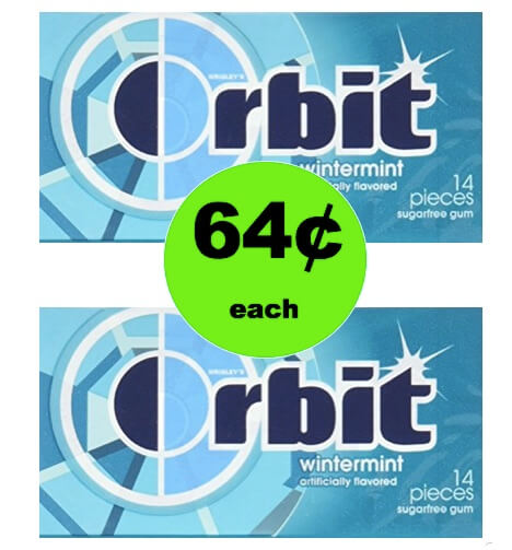 Pick Up 64¢ Orbit or 5 Gum Singles at Walgreens! (Ends 2/24)