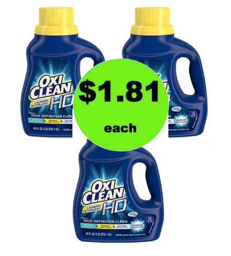 Get Oxi Clean Laundry Detergent Only $1.81 at Walgreens! (Ends 2/24)