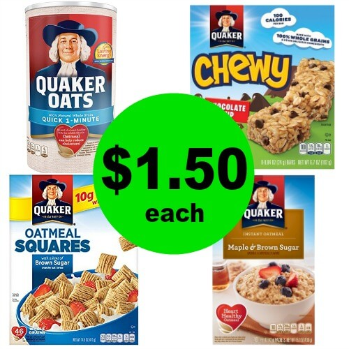 Enjoy Breakfast with $1.50 Quaker Cereal, Oats or Oatmeal at CVS! (Ends 2/24)