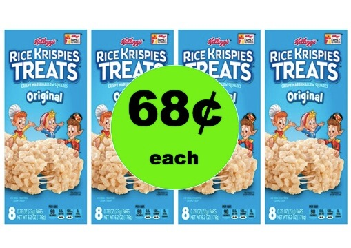 Make the Kids Smile with 68¢ Kellogg's Rice Krispies Treats at Target! (Ends 3/10)